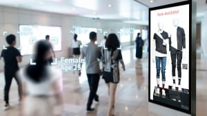 Augmented reality marketing and face recognition concept