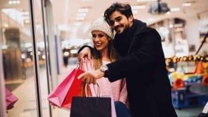 Beautiful couple shopping
