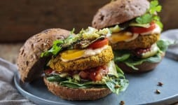 Butternut squash and chickpeas burger
