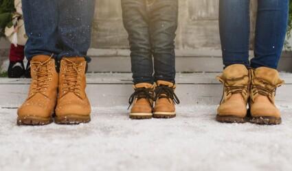 Cropped parents little childrens leg