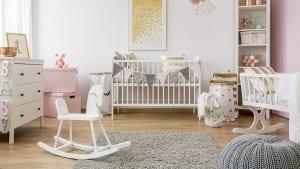 baby room scandinavian style rocking horse