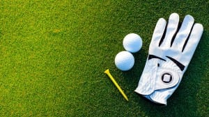 ball glove tee golfclub driver golf