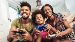 canada family playing video games
