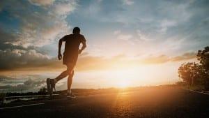 running on the street for exercise